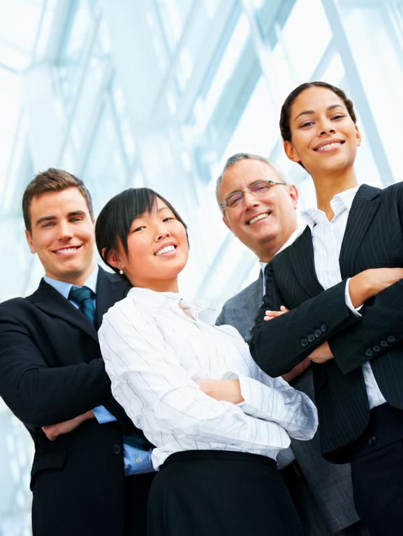 Photo of business professionals smiling