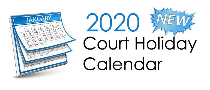 Court Holiday Calendar Image