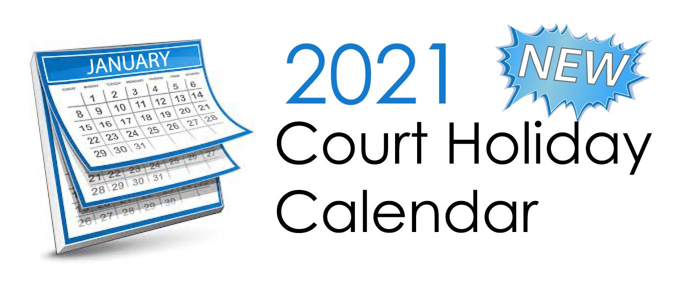 2020 court holiday calendar icon